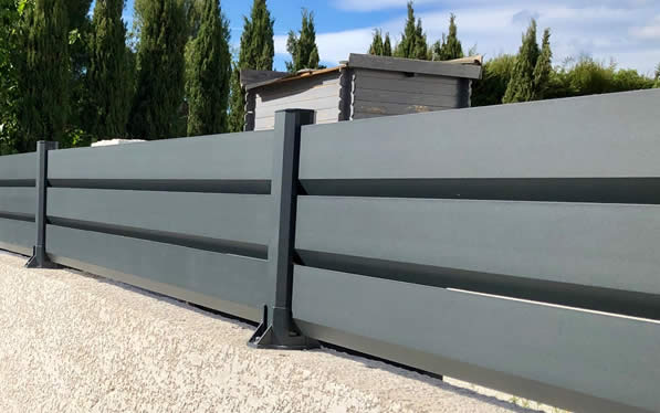 clôture jardin en aluminium