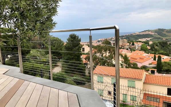 garde-corps extérieur pour une terrasse