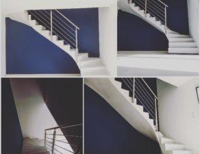Garde corps inox sur un escalier à Bordeaux