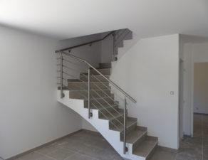 Garde corps d'un escalier dans une maison individuelle