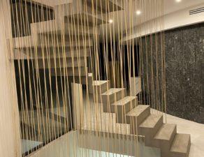 protection en cordage marine d'un escalier à crémaillère   remarquable à Sète entre Montpellier et Béziers pour un particulier Scalin Garde Corps Sud